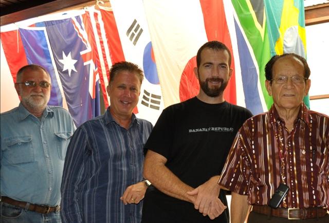 Board members Gustav Zimpel, Ted Jantz (chairman), Charles Shirey, and Rudie Braam.